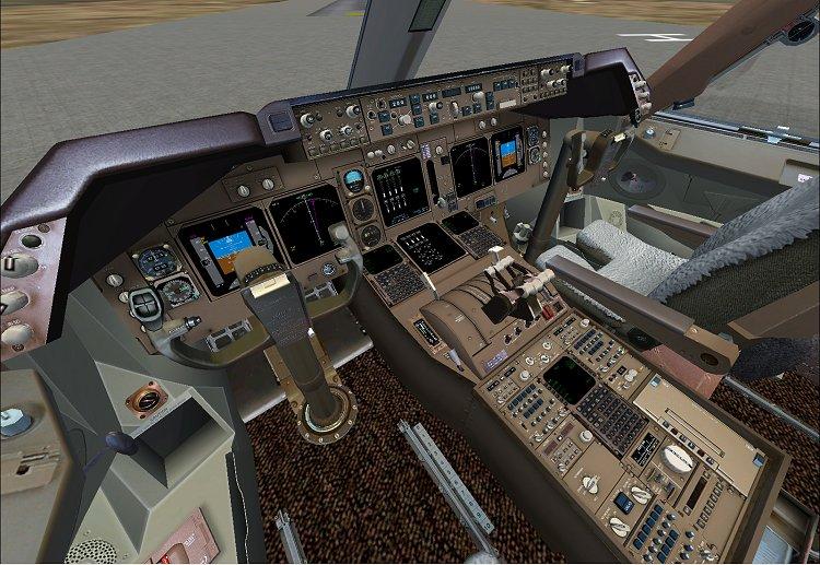 Flight simulation for Boeing 747 exterior